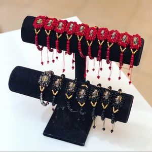 Saint Benedict red crystals bracelet
